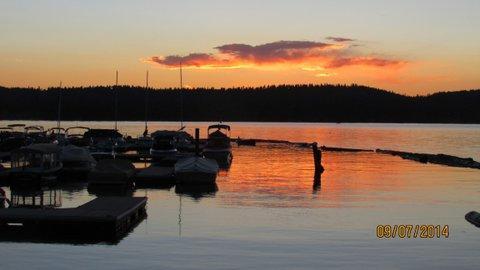 Coucher de soleil lac Payette