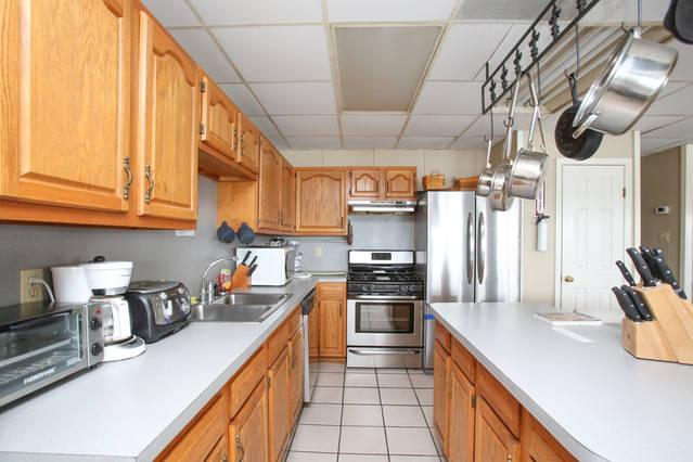 All brand new stainless appliances.