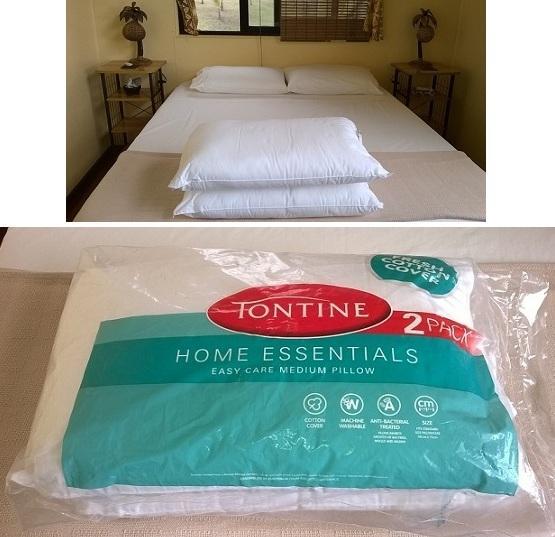 Villa Lomalagi's pillows (All new pillows throughout)
