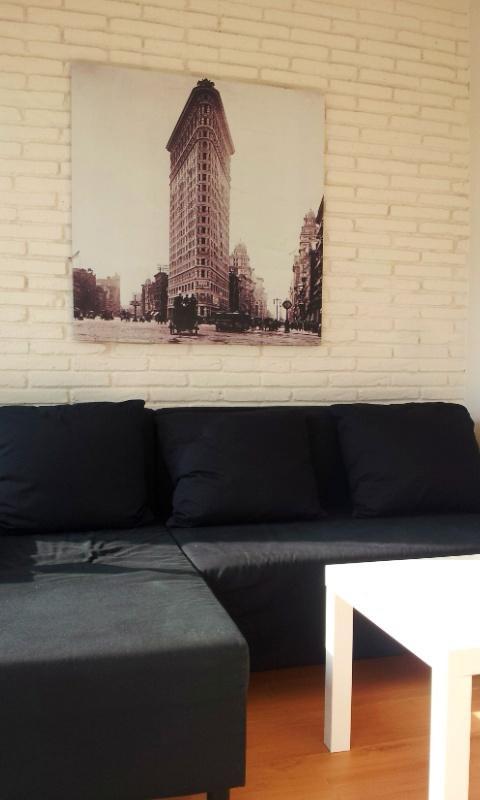 living room, extensible sofa