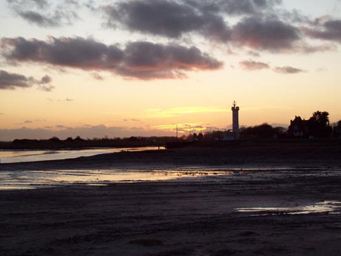 Zonsondergang in Le Hourdel