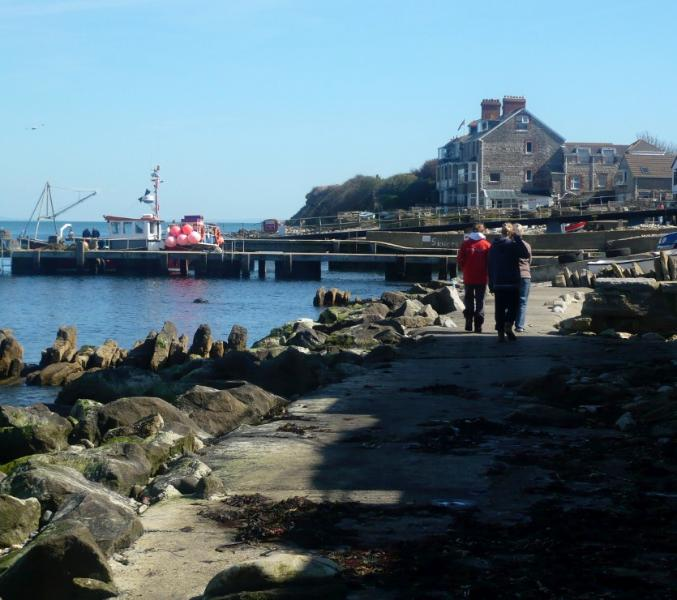 Beyond the Old Stone Quay towards the Lifeboat Station