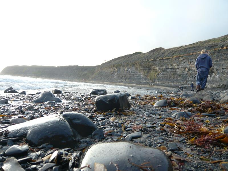 Fossil hunting at nearby Kimmeridge