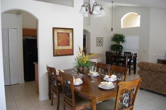 Dinning area with six chairs