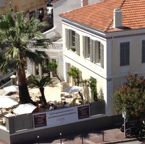 View of Cottard patisserie and restaurant from terrace - on your doorstep