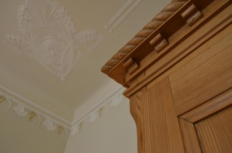 Antique cabinet and ceiling detail
