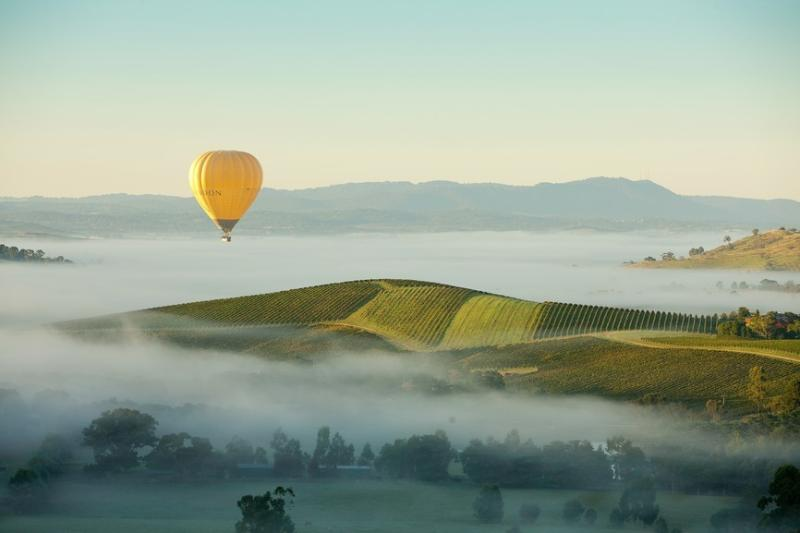Ballooning over the Yarra Valley.