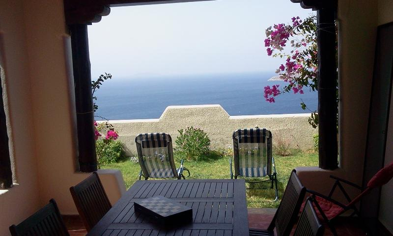 Amazing seaview from the garden terrace