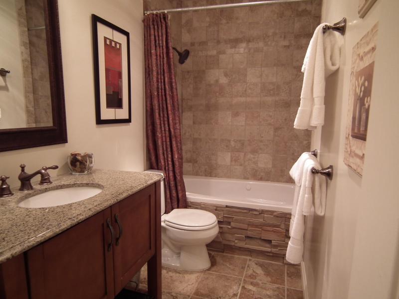 Spa comme salle de bain avec bain à remous