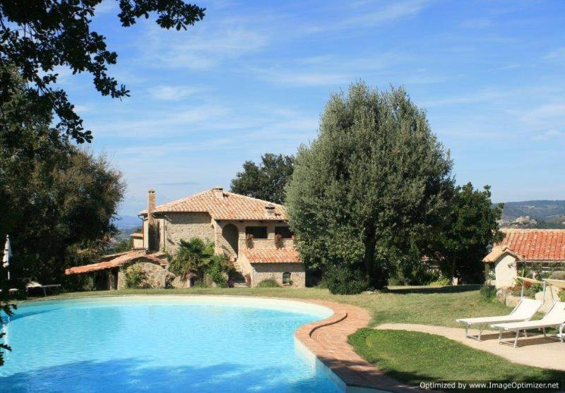 Bellevue - Lecco Villa rental near Seggiano, Tuscany, holiday rental in Montelaterone