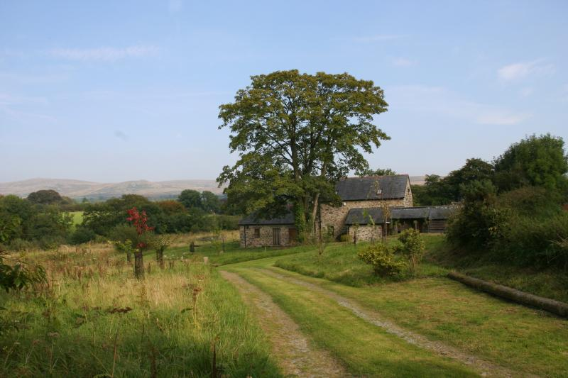 Approaching Swallow Barn and looking across its land to the Moors