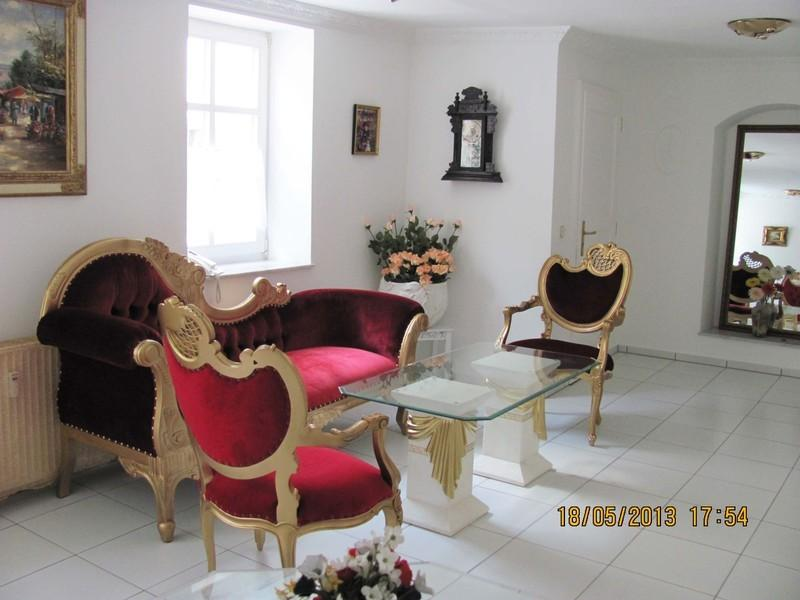 Romantic Rococo style furniture in the living room