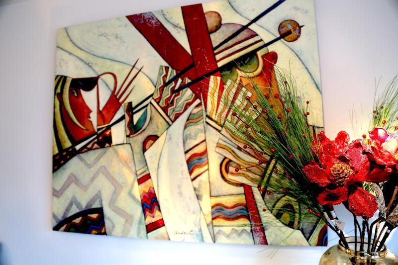 Themed artwork by local artist Andrei Protsouk