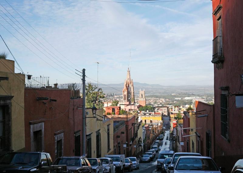 View walking to El Centro