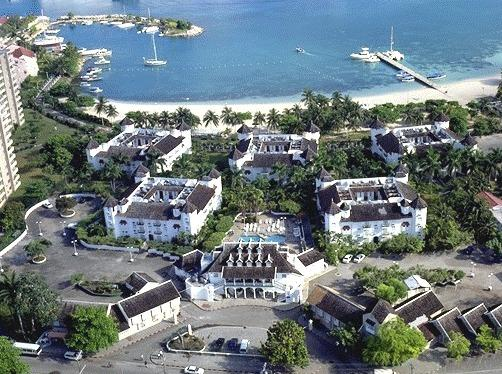 Aerial View of Sandcastles