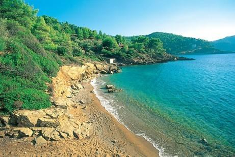 our beach view towards villa