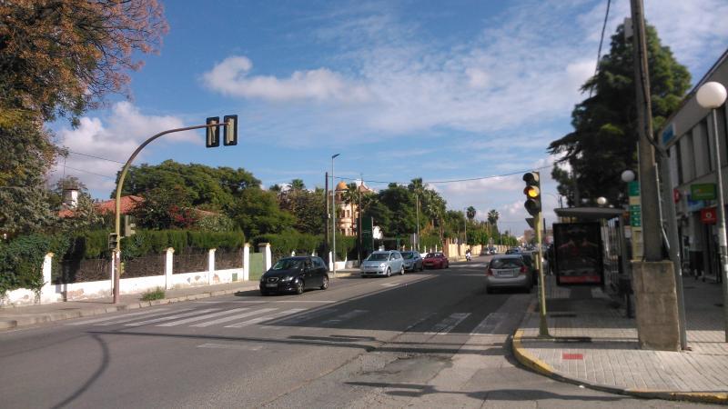 Bus stop at Avenida de Europa. From there you access the station Plaza de Armas. Sevilla.