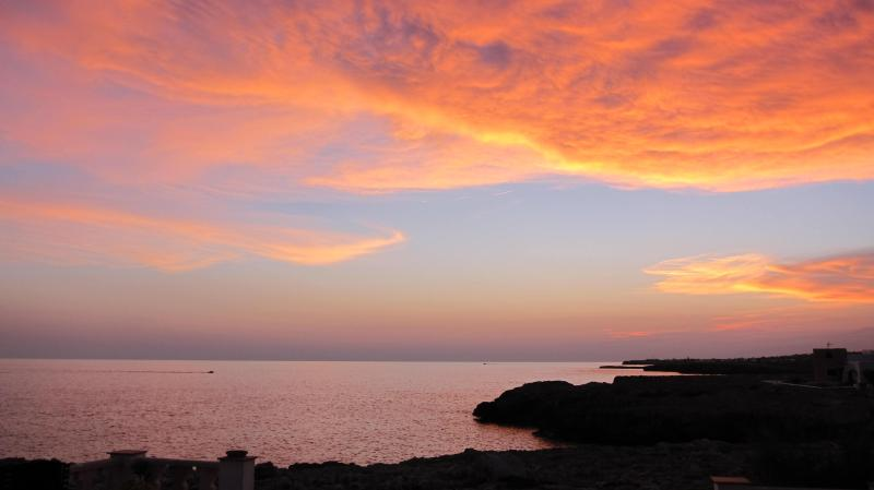 Spectacular Sunsets of the sea from villa terrace never fail to please!
