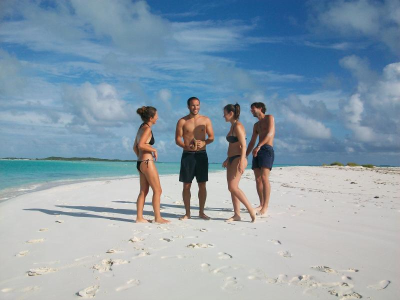 Some of our guests on Moriah Cay