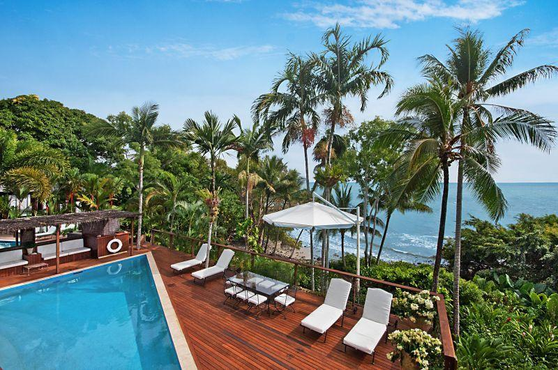 View across the pool to The Coral Sea