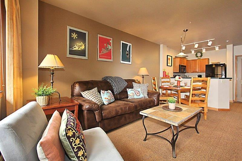 Large open living area gives you lots of space to relax