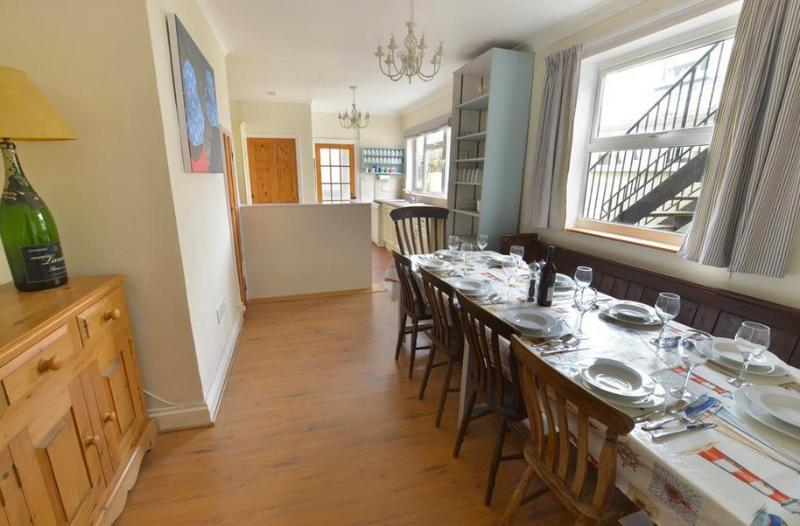 Fabulous kitchen/breakfast room with table large enough for 12 and baby boosters if needed.