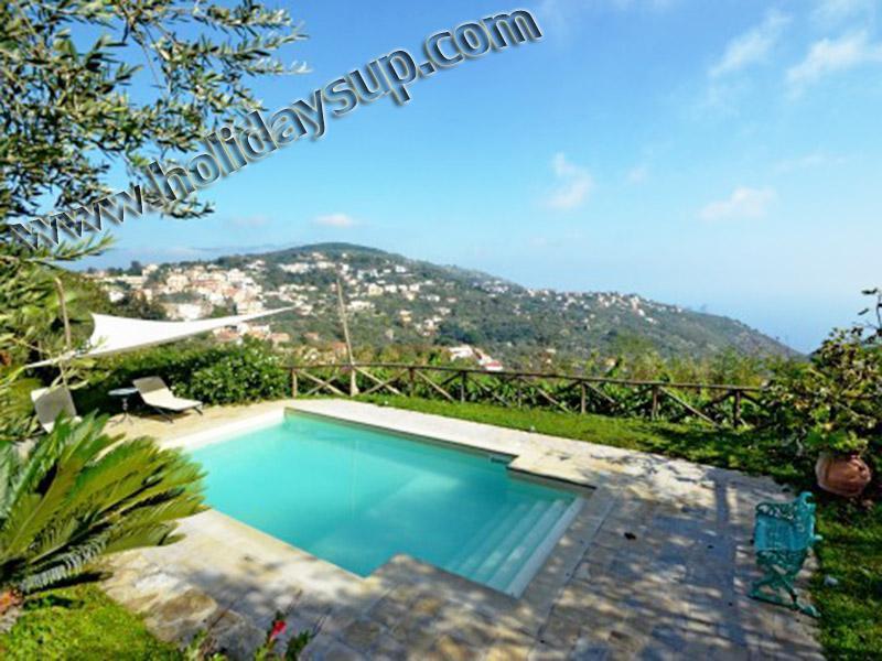 Villa Amolu med privat fin pool, solarium och havet Visa sorrento bokning stuguthyrning