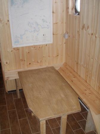 Front de sauna