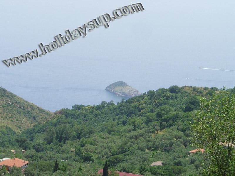 Villa ligger i en relax rum Sant'Agata sui due golfi med havet Visa och pool semester sorrentocoast