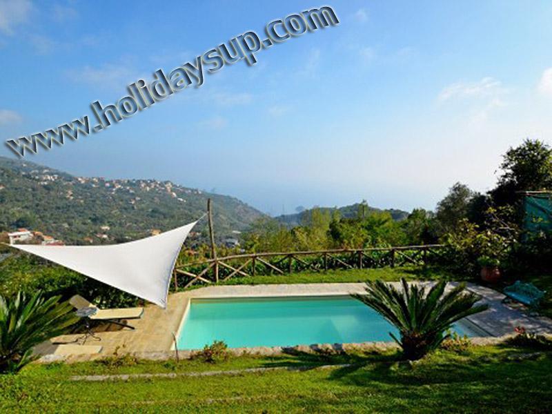 Villa i sorrento-kusten med pool och havet nära marina del cantone stränder och positano amalfi