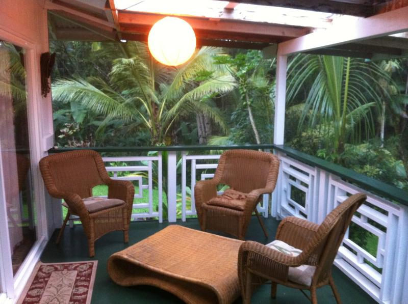 Lots of seating areas on porches.