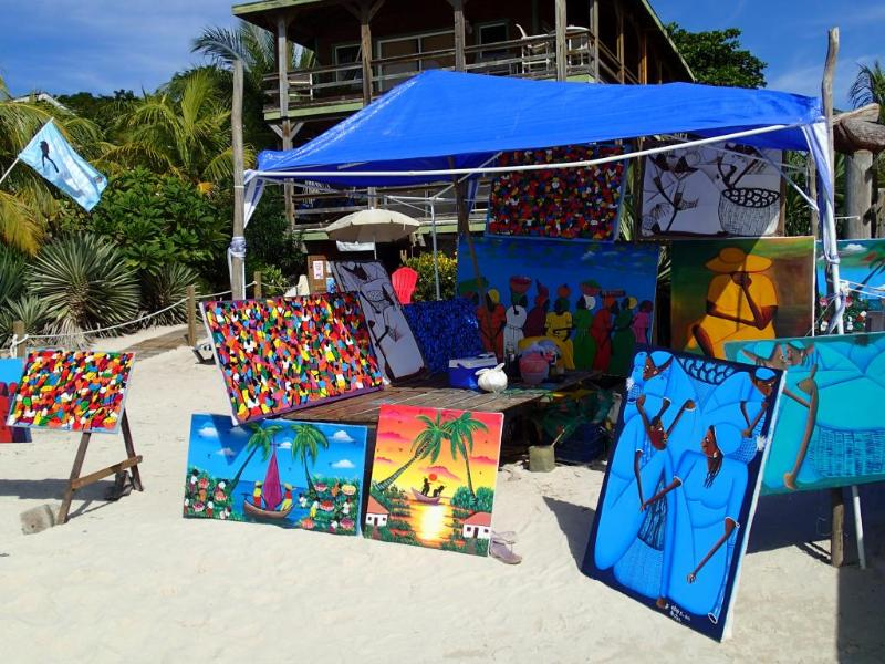 Beach Art Vendor