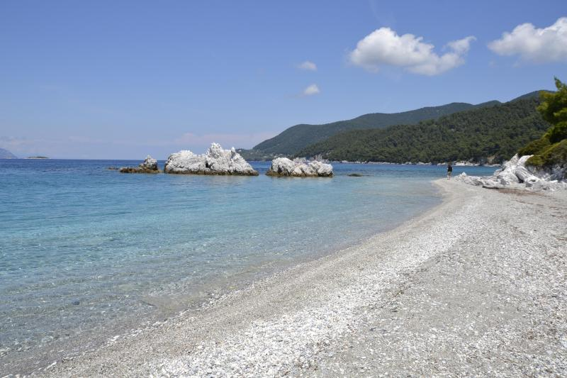 Milia Beach - West side - 2nd closest beach from Skopelos Country Villa Delfi.