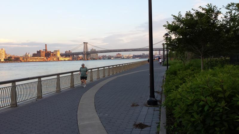 East River Park promenade