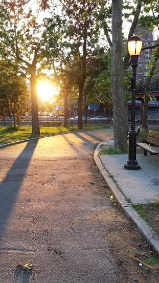Beautiful sunset view from East River Park
