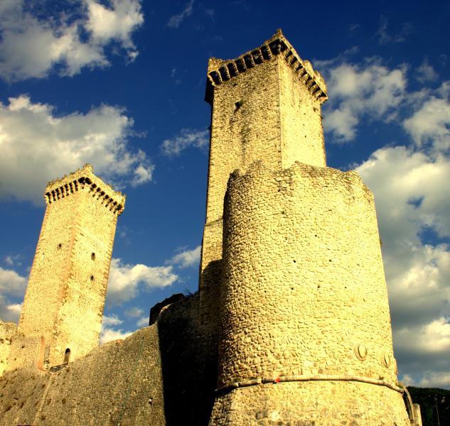 Castle of Caldora in village of Pacentro.