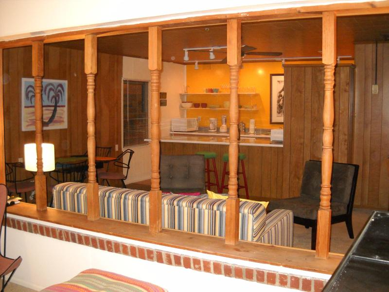 Living space from the viewed from the den
