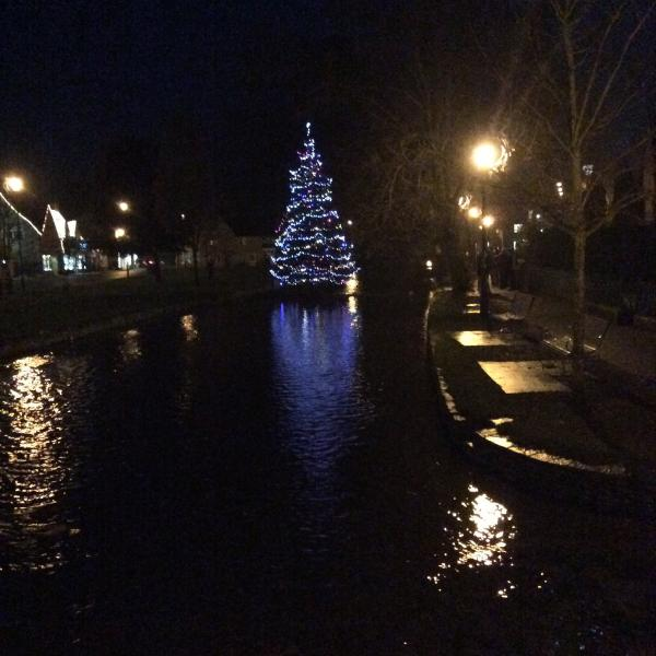 Just a few short steps from Bourton Croft Cottage and at Christmas that includes the tree