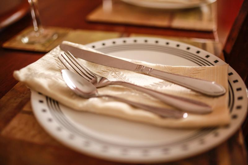 Place settings to welcome six