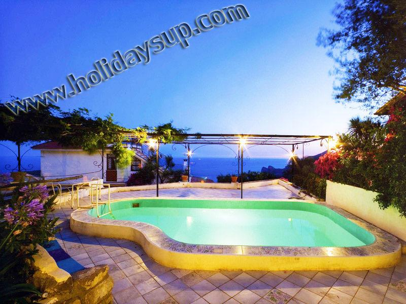 Villa Carlotta sorrento coast with private swimming pool, solarium and ocean view relax holidays up
