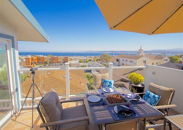 Welcome to 'The Hawthorne Penthouse'! Beautiful View of Monterey Bay.