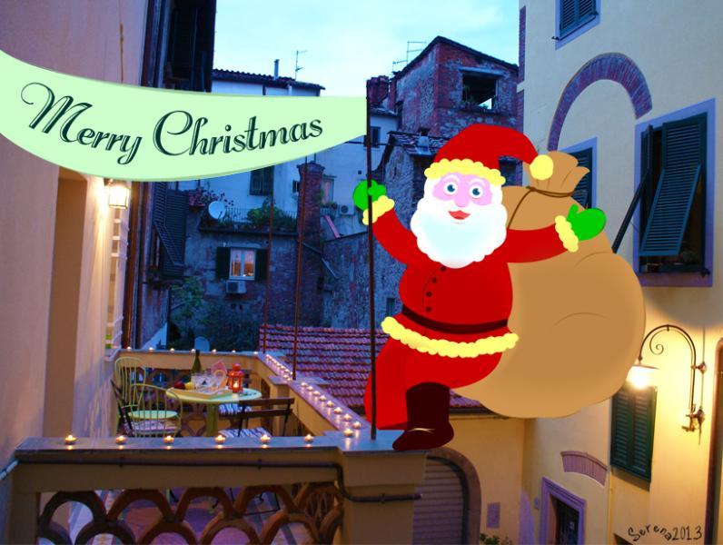 Santa Claus on the terrace