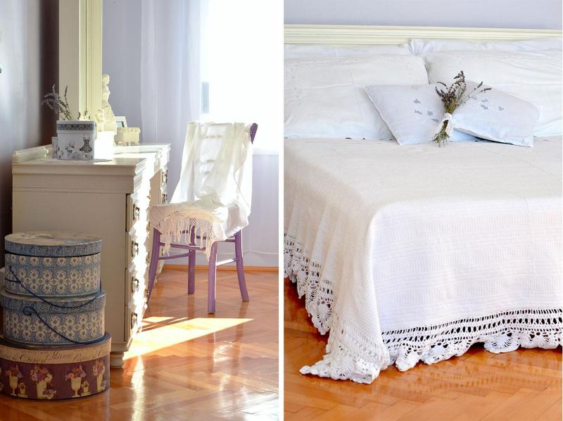 Shabby chic decore of apartment Mar deLuxe !