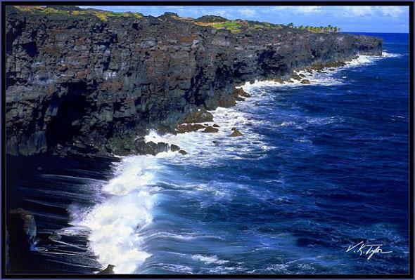 Rugged east Hawaii coastline