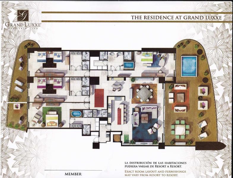 Grundriss für die Residenz im Grand Luxxe Residence Club