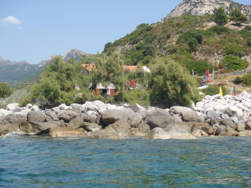 The house seen from the sea