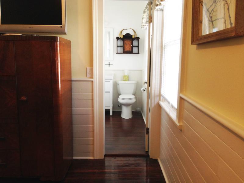 Rear en-suite Bathroom with custom shower