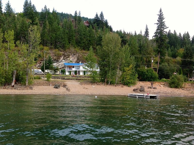 View of home from Shuswap Lake