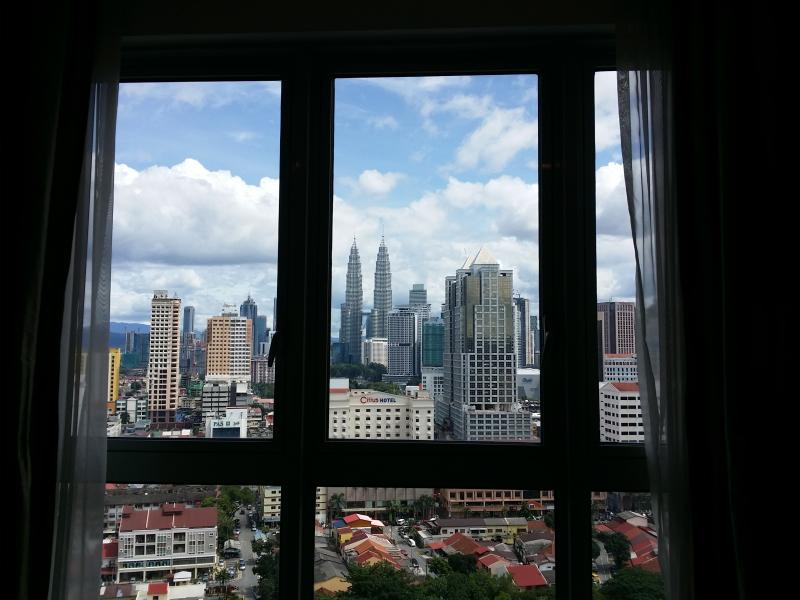 City view from living