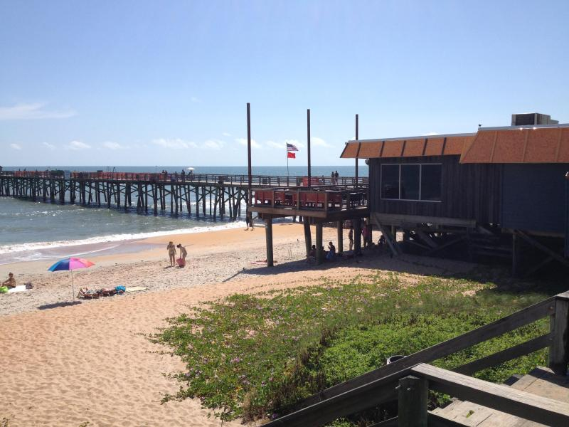 The Flagler Beach Pier is just two blocks away